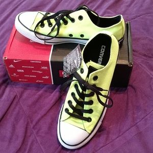 New Neon Yellow Converse Shoes